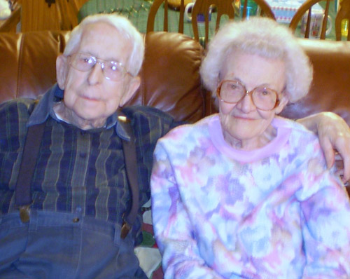 elderly couple in nursing facility